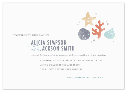 wedding invitations - The Shore by Kristen Smith