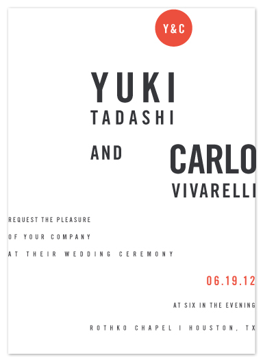 wedding invitations - Abstract by Tyler Tea