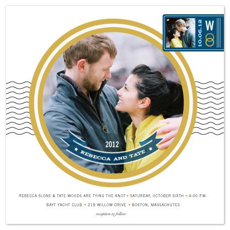 wedding invitations - waves multi-photo by Sara Hicks Malone