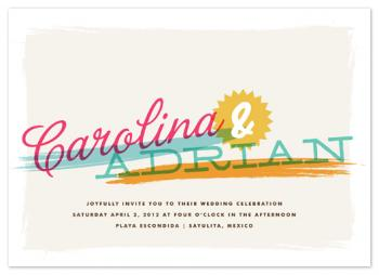 tropisueño Wedding Invitations