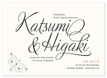 Dotted & Brush Wedding Invitations
