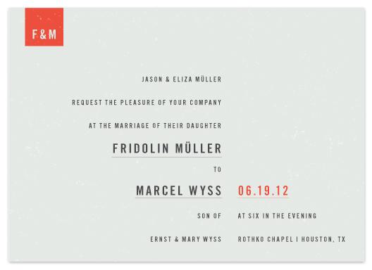 wedding invitations - Modern by Tyler Tea