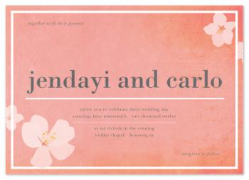 Pink Blossom Wedding Invitations