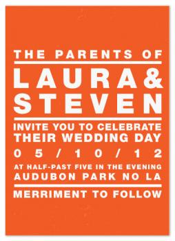 Rock Poster Wedding Invitations