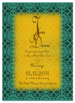 yellow joy wedding invitation Wedding Invitations