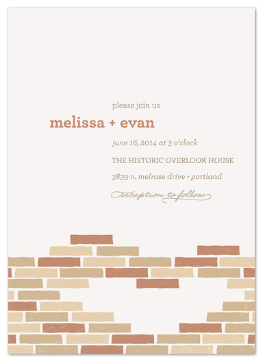 wedding invitations - Historic Brick by Melanie Severin