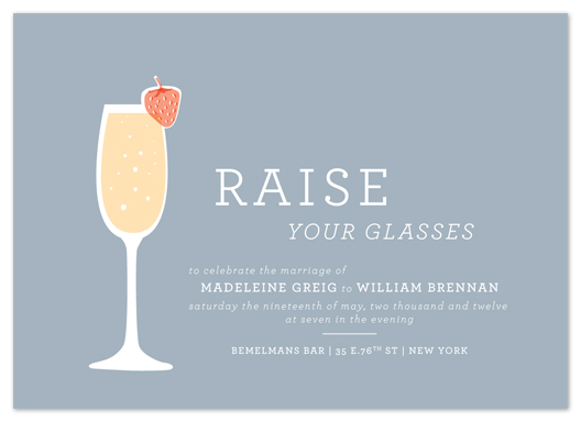 wedding invitations - raise your glasses by Paper Rose