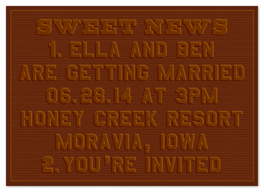 wedding invitations - sweet news by campbell and co.