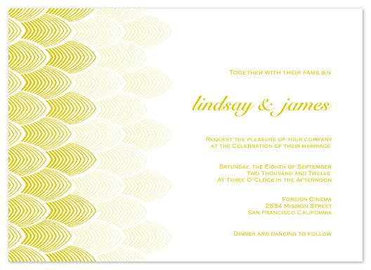 wedding invitations - Golden Deco by Phoebe Wong-Oliveros