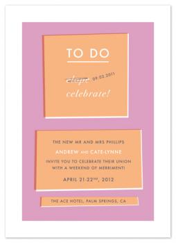 celebration checklist