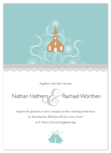 wedding invitations - Decorative Church by Debbie Daley