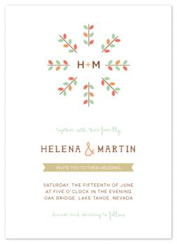 happy together monogram Wedding Invitations