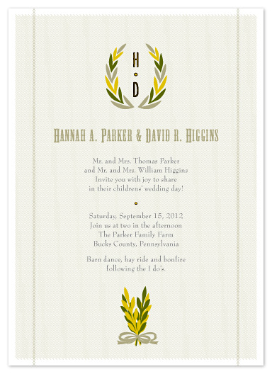 wedding invitations - Farm Fresh Fun! by Carol Fazio