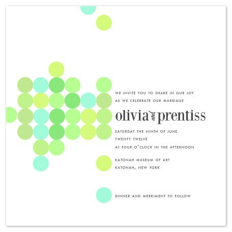 wedding invitations - Artful Dots by karen boehm custom