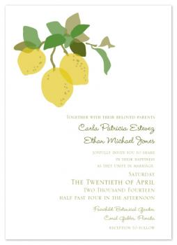 Citrus Charm Wedding Invitations