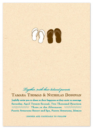 wedding invitations - Walk On The Beach