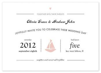 Sunset Sail Wedding Invitations