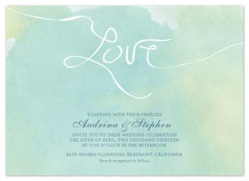 Scripted Waters Wedding Invitations