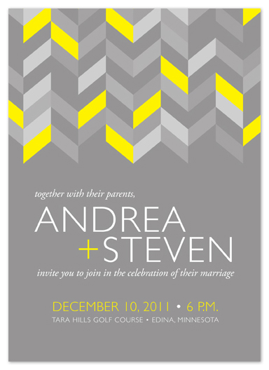 wedding invitations - Neutral and Neon by Iron Range Artery