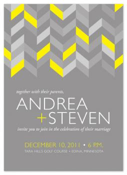 Neutral and Neon Wedding Invitations