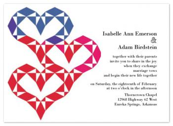 Quilted Together Wedding Invitations