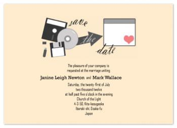 """Saving"" the Date Wedding Invitations"