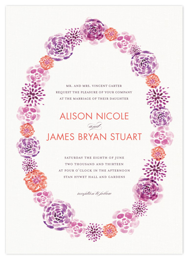 wedding invitations - English Garden by Robin Ott