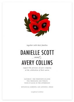 Poppy Love Wedding Invitations