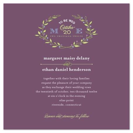 wedding invitations - To Be Wed by karen boehm custom