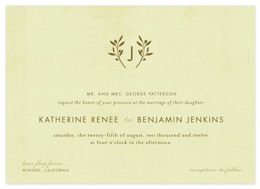 wedding invitations - Olive You by Robin Ott