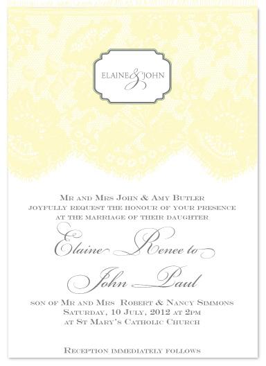 wedding invitations - Sunny Lace by Christiana Hudson