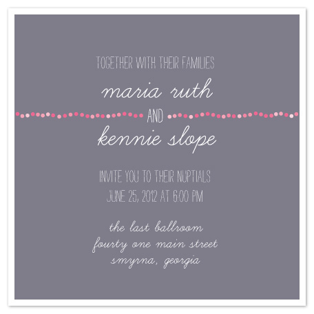 wedding invitations - Pink Pearls by arbor corner studio
