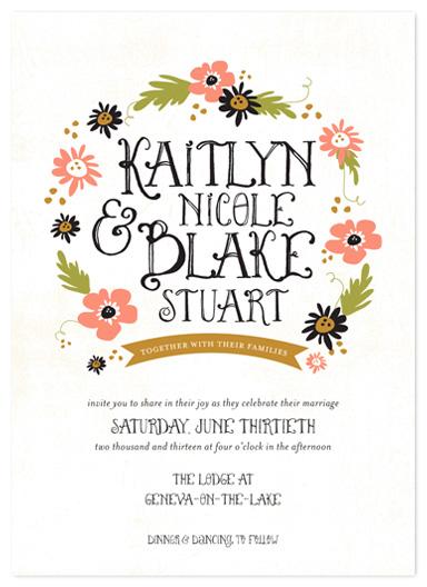 wedding invitations - the fairy tale by robin ott design