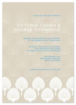 Paper Fan Wedding Invitations