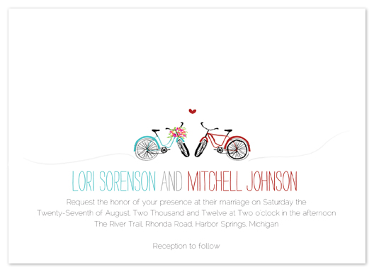 wedding invitations - Bike Love by Larkspur Paperie