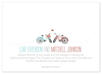 Bike Love Wedding Invitations