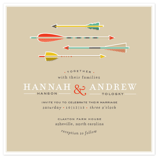 wedding invitations - Target Practice by Cheer Up Press