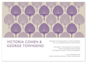 Fan Motif Wedding Invitations