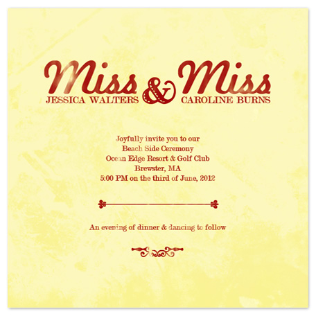 wedding invitations - Miss Miss by Simply Shira