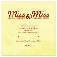 Miss Miss Wedding Invitations