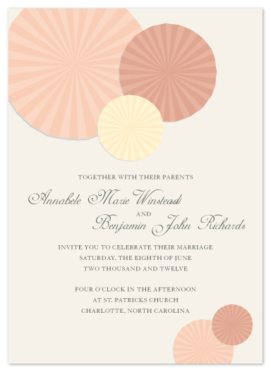 wedding invitations - Paper Celebrate by Max and Bunny
