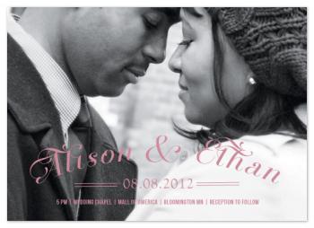 The Kiss Wedding Invitations