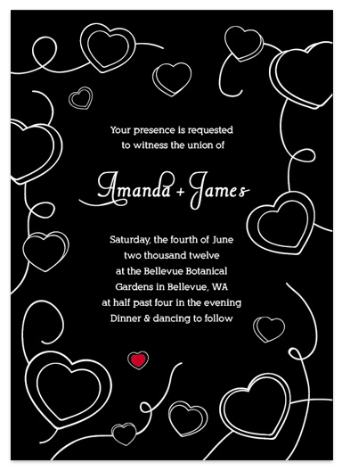 wedding invitations - Vintage Chalkboard by Simply Shira