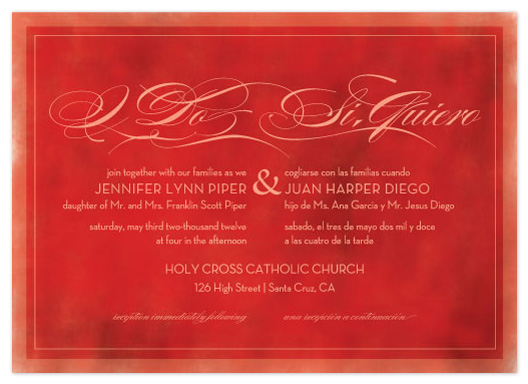 wedding invitations - Si Quiero by Bleu Collar Paperie