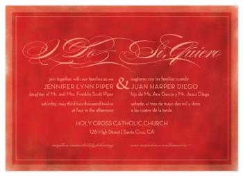 Si Quiero Wedding Invitations