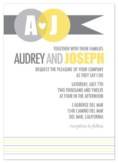 wedding invitations - Heart Ribbon by Christy de la Torre