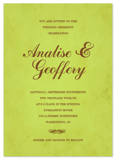 wedding invitations - Vintage Type by Simply Shira