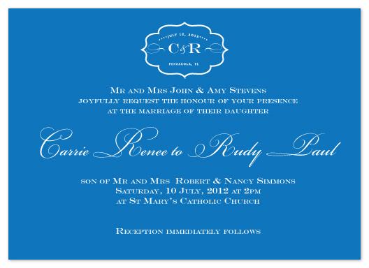 wedding invitations - Reversed Motif by Christiana Hudson