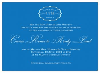 Reversed Motif Wedding Invitations