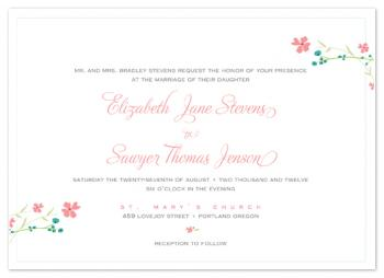 a sprig of wild flowers Wedding Invitations
